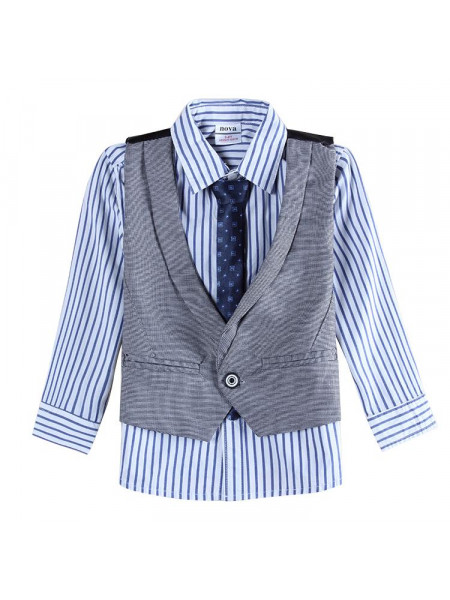 Рубашка, жилетка, галстук Nova A4088 charcoal