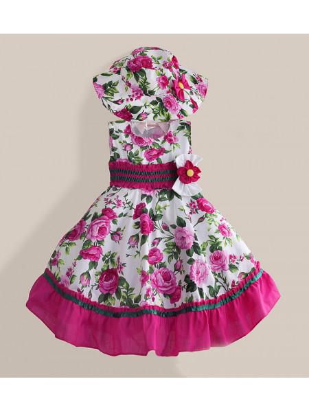 Платье Zoe Flower ZF21 fuchsia