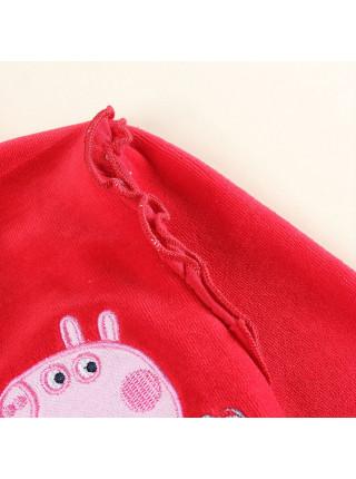 Кофта с капюшоном для девочек Nova F5663D red