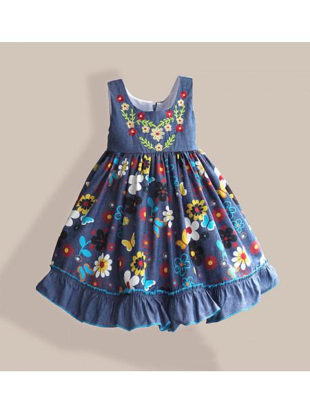 Платье Zoe Flower ZF127 blue