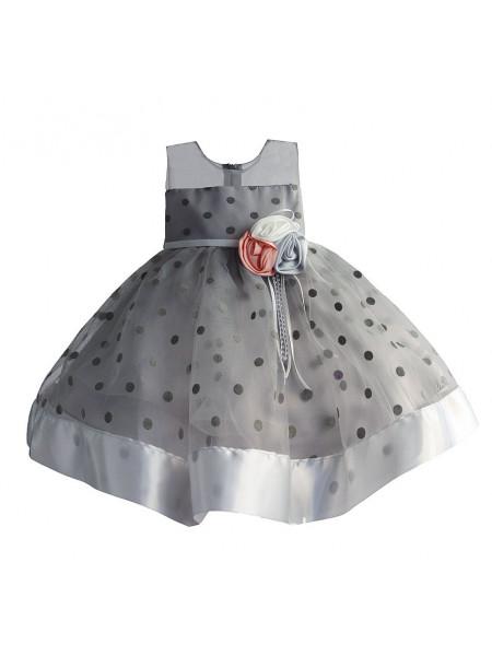 Платье Zoe Flower ZF148 grey