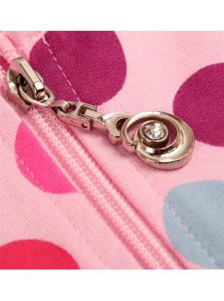 Кофта с капюшоном на замке Nova F1903 pink