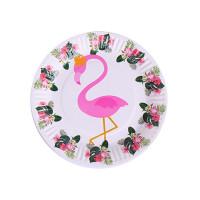 Тарелка Noname TARELKA17 flamingo!